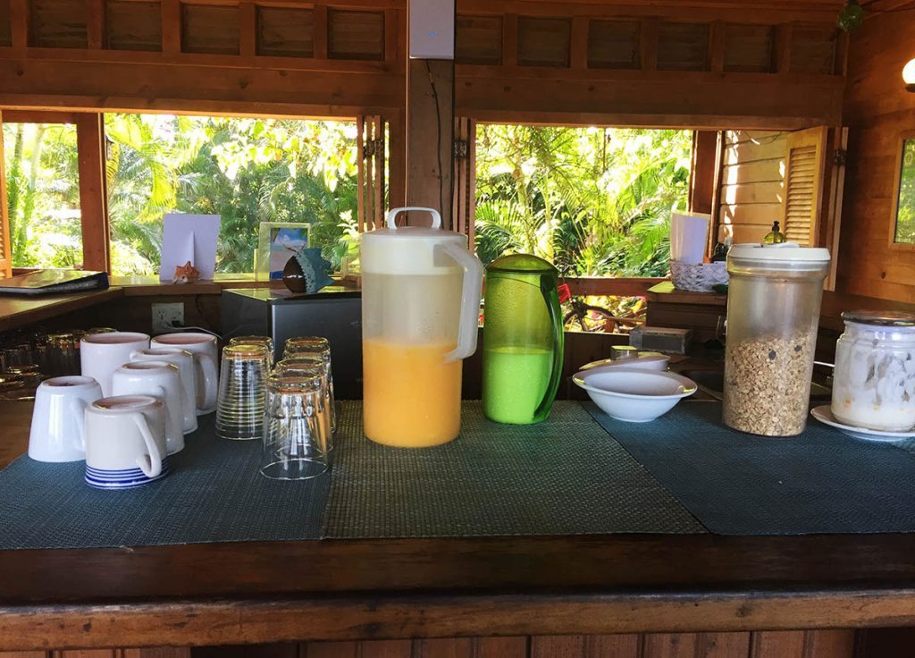 Self-Serve Breakfast Buffet at Cocolobo Roatan