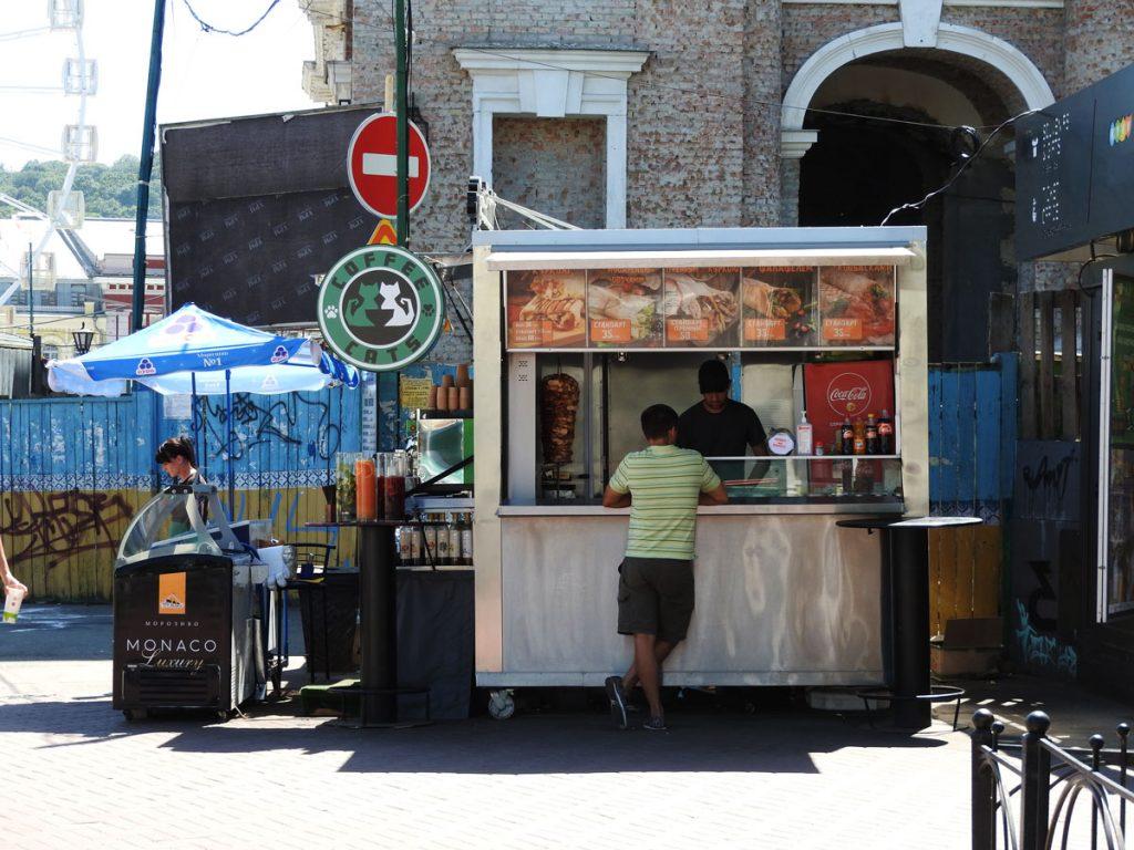 Kebab Stand at Kontraktova Ploshad in Kiev