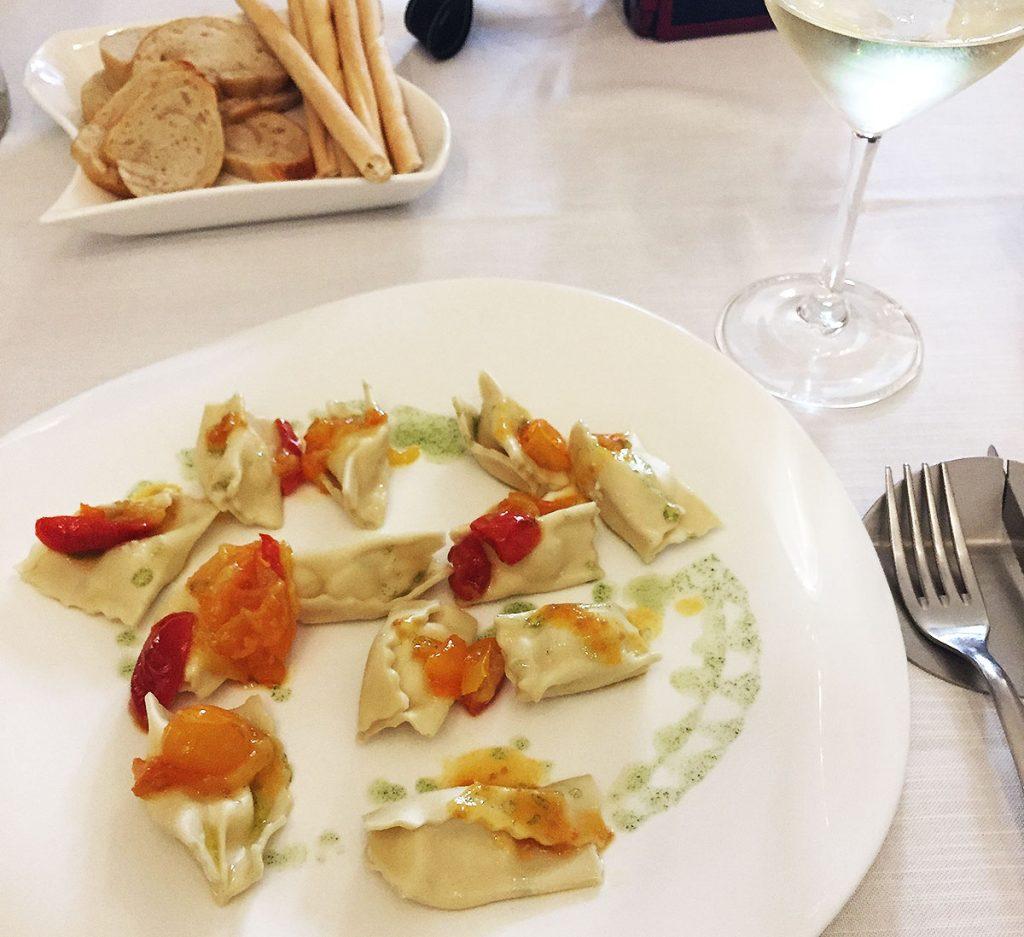 La Piola di Via Piol Restaurant in Rivoli, Italy - Pasta Dish