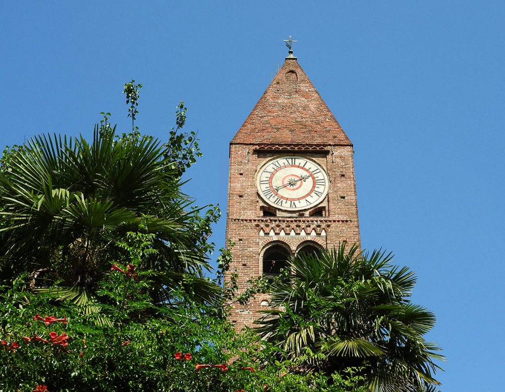 Ancient Clock Tower in Rivoli, Italy