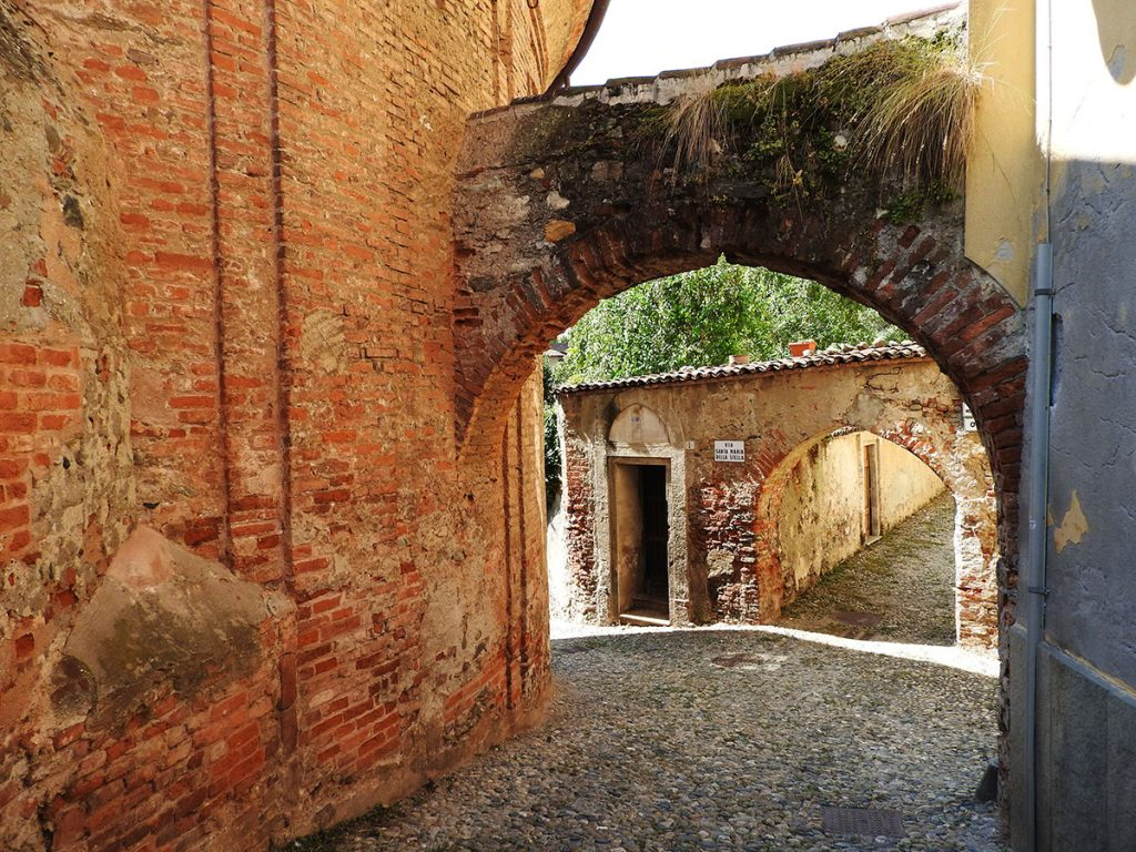 Rivoli, Italy - Arched Cobblestone Streets