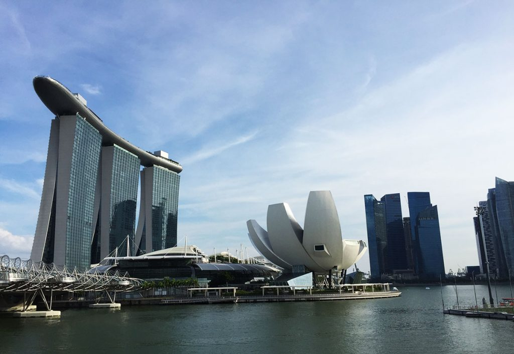 Singapore Tourist Spots - The Marina Bay Sands Hotel