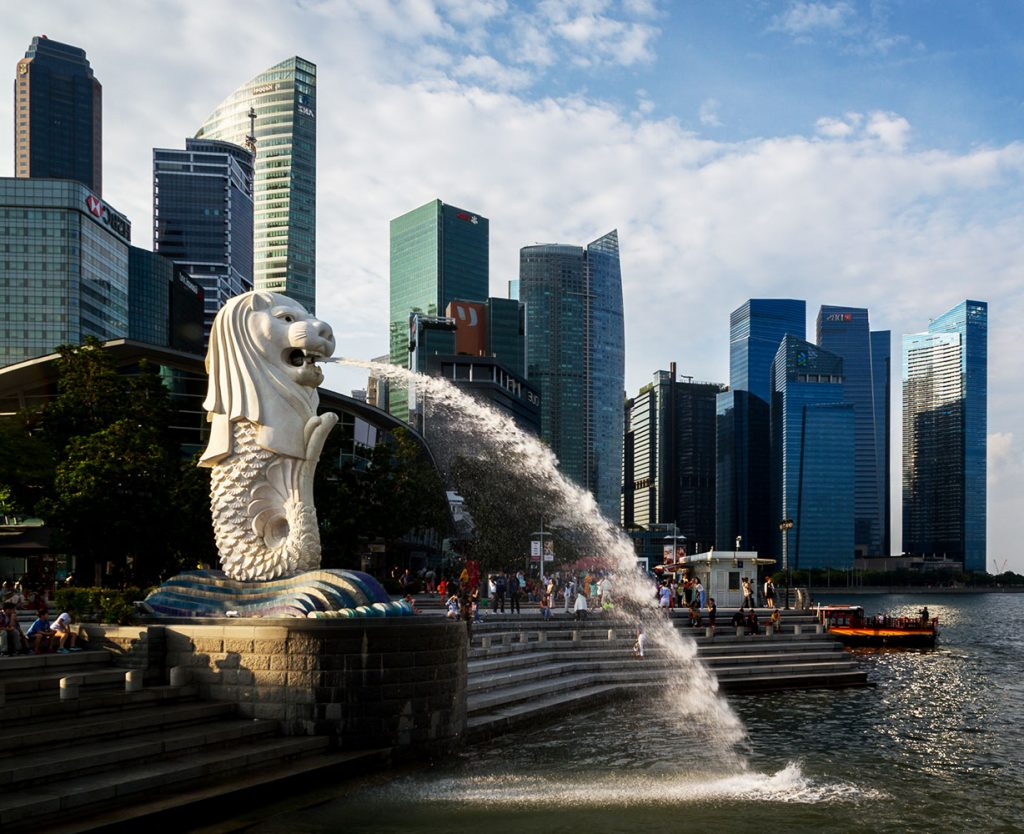 Singapore Tourist Spots - Merlion Park