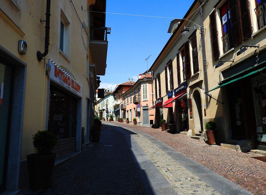 Entrance to Rivoli, Italy Centro Historico