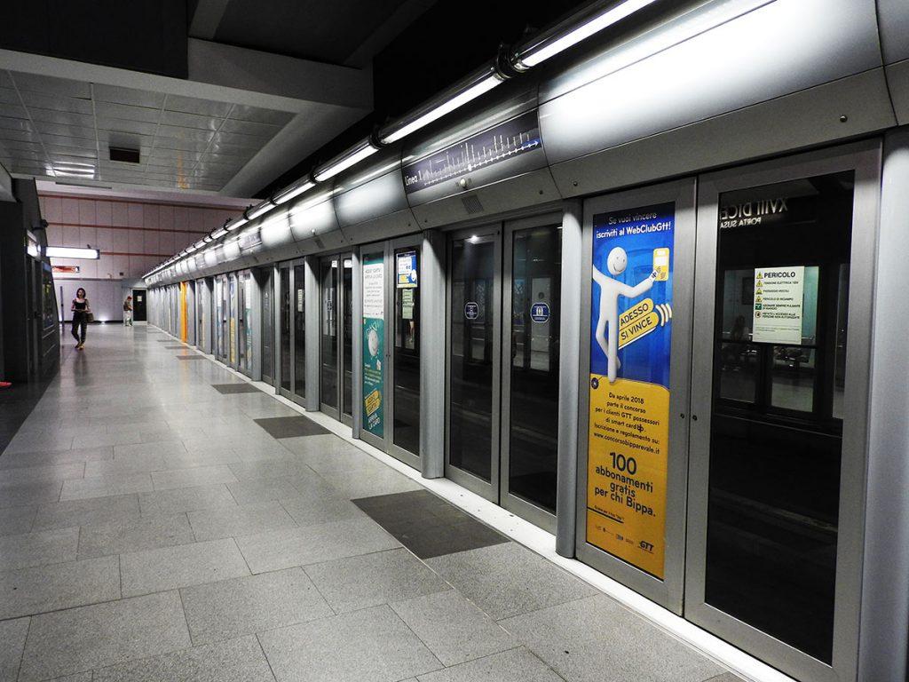 Turin, Italy Metro Station