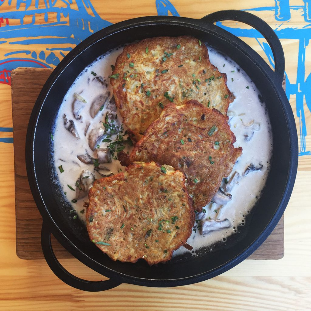 Potato Pancakes at Druzi Cafe in Kiev