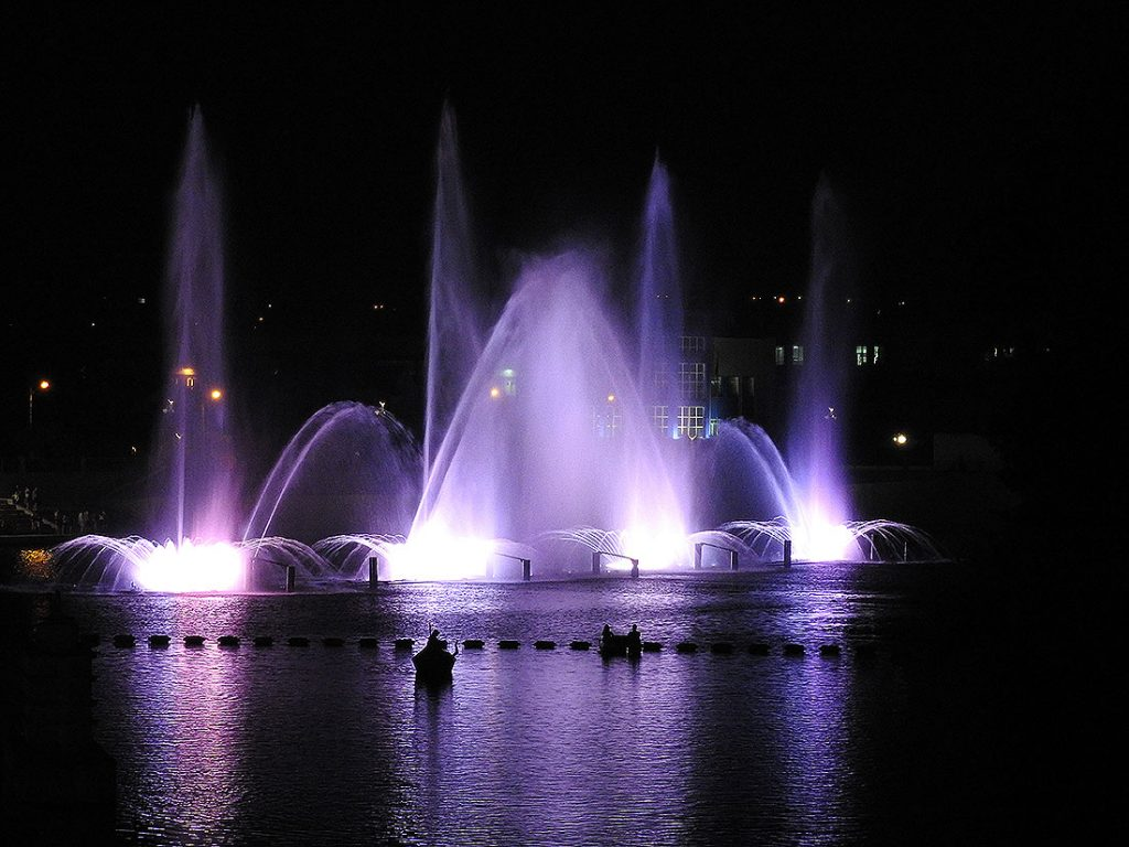 Roshen Multimedia Fountain Show in Vinnytsia Ukraine