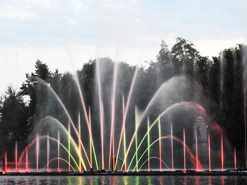 Roshen Fountain in Vinnytsia Ukraine