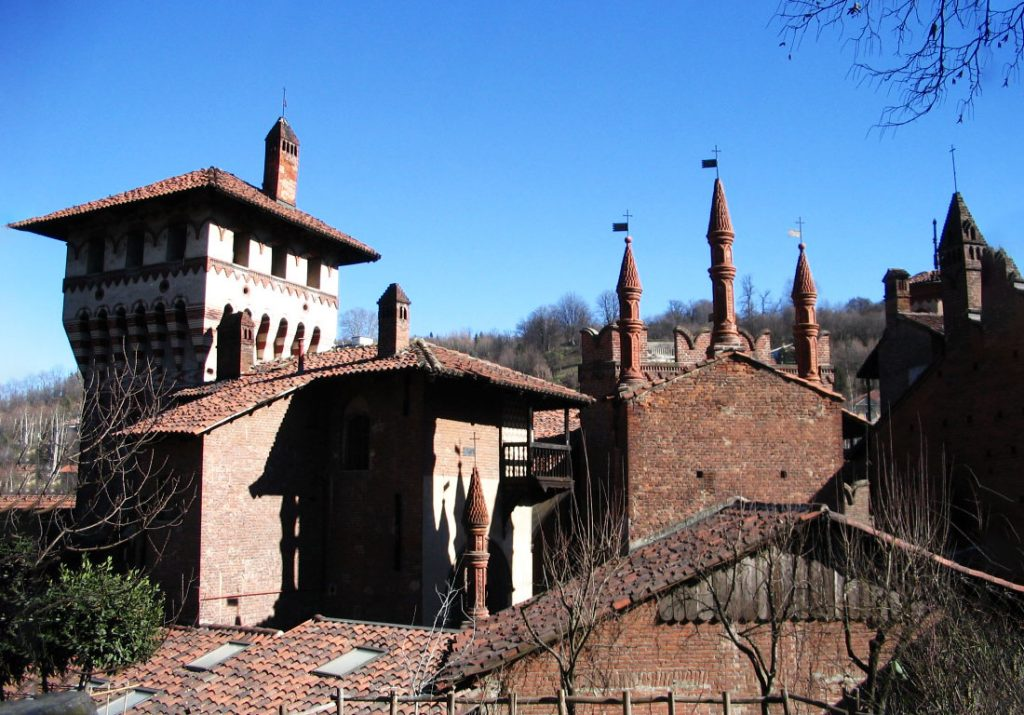 The Borgo Medievale in Torino, Italia