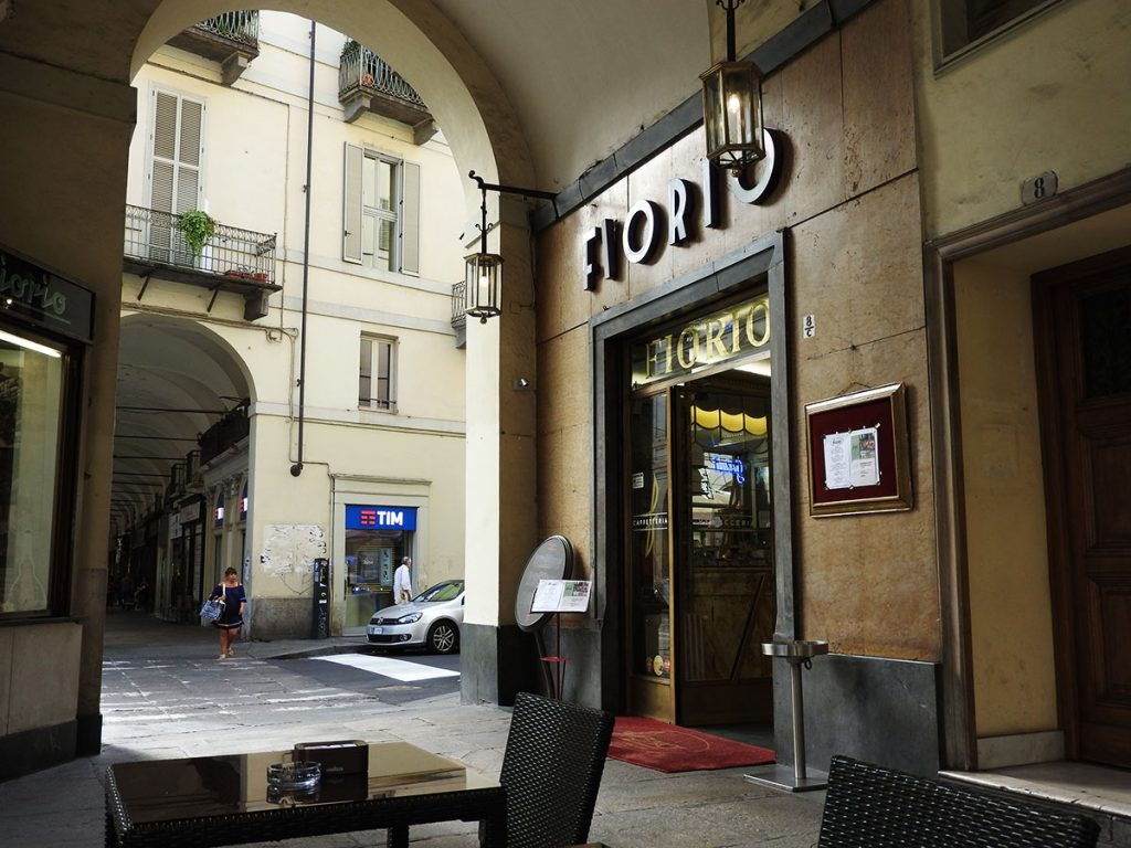 Cafe Fiorio on Via Po in Turin, Italy