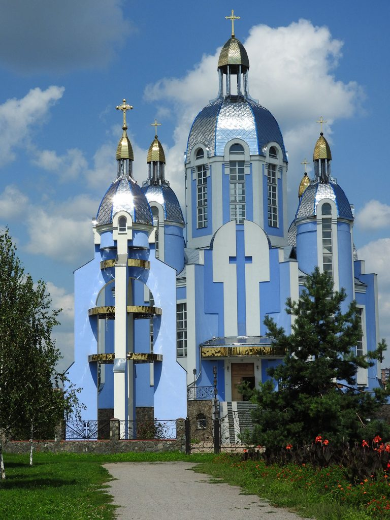 Blue Church in Vinnytsia, Ukraine