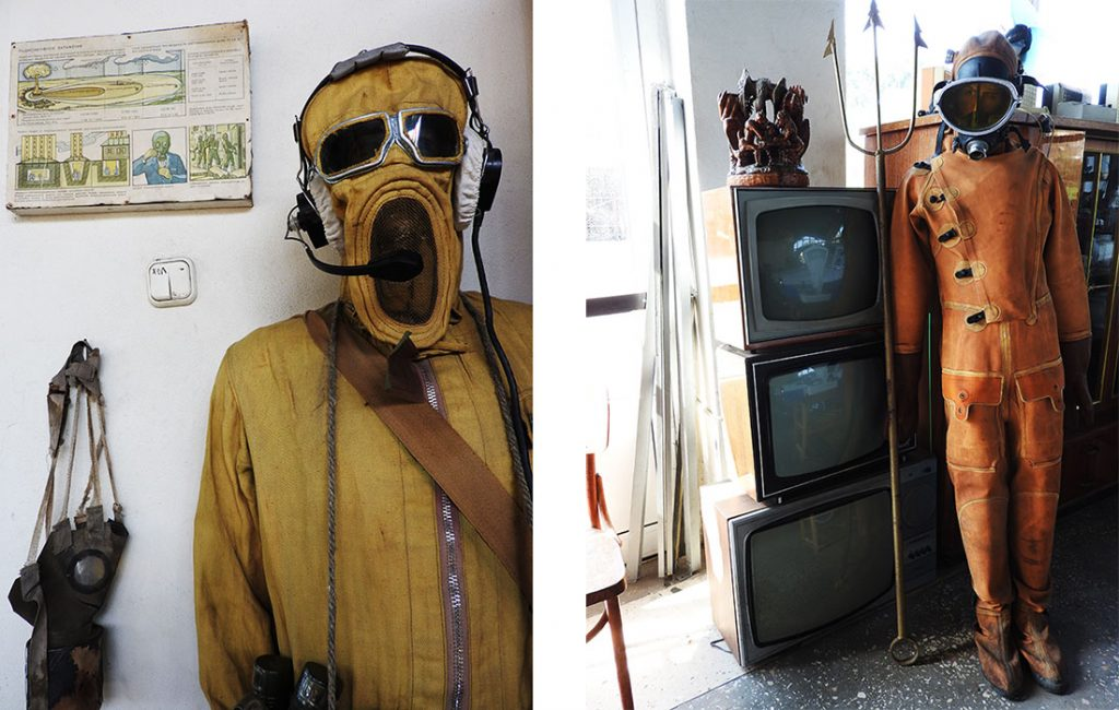Creepy Suits at the Museum of Retro Technology