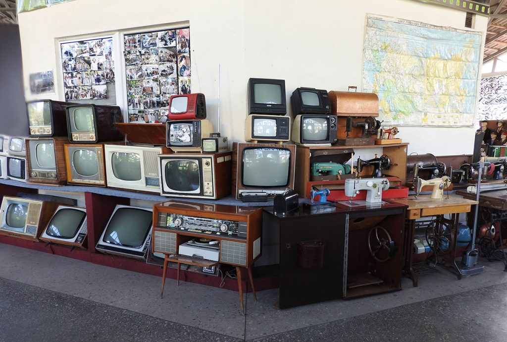 Old Televisions at the Museum of Retro Technology in Vinnytsia