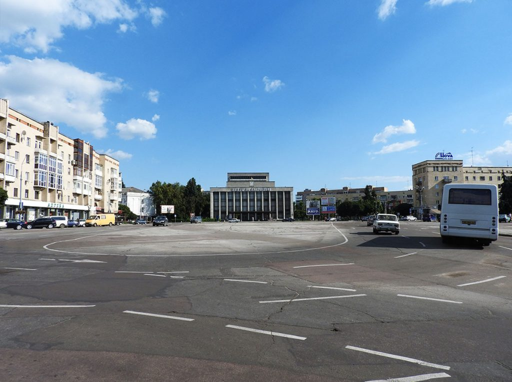 Peremohy Square in Zhytomyr