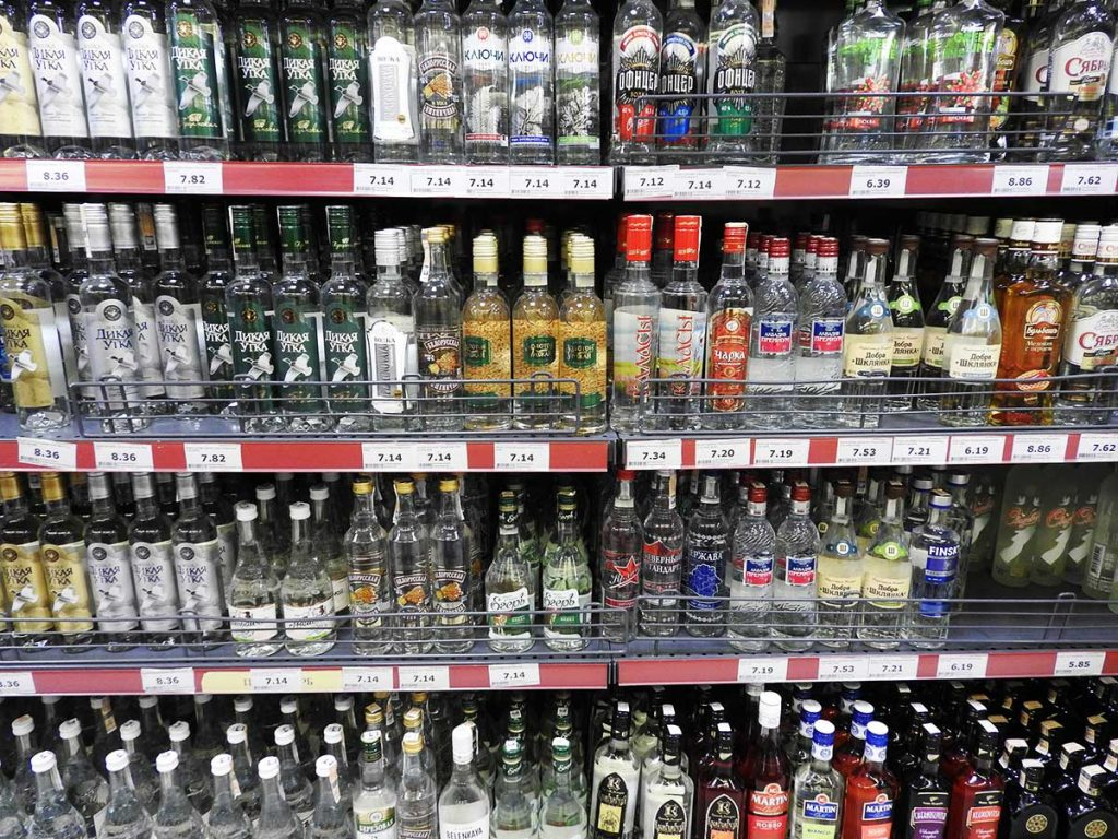 Cheap Vodka at the Supermarket in Minsk, Belarus - Top 13 Things to Do In Minsk