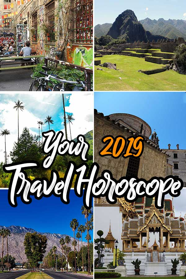 The complete 2019 #travel #horoscope for every astrological star sign. Find our your ideal #travel destination for 2019! #fearlessfemaletravels
