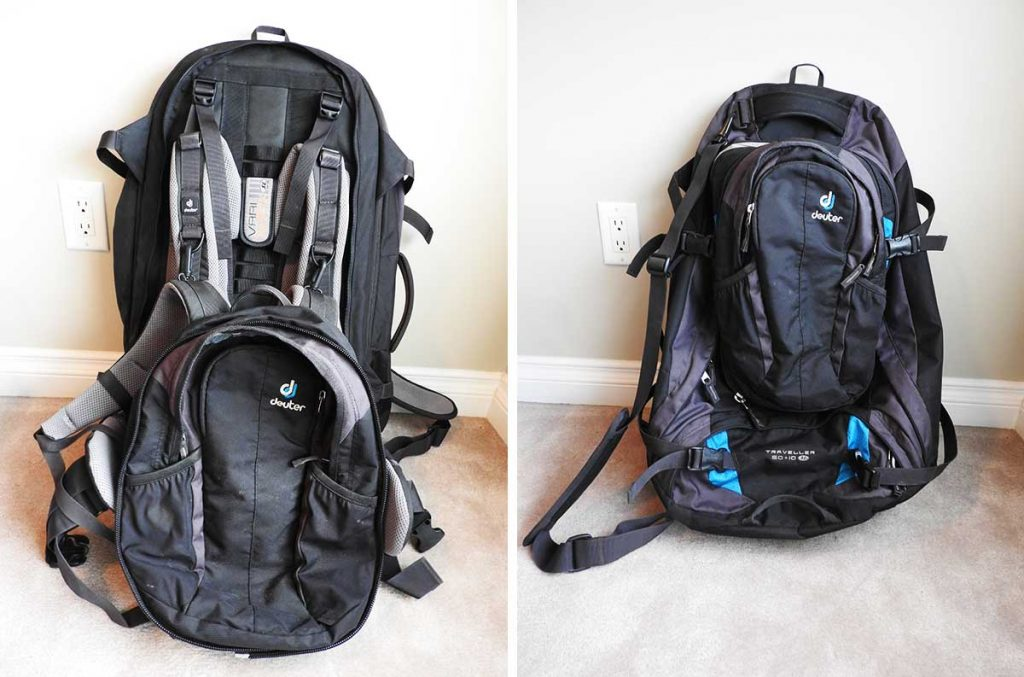 The Best Travel Backpack for Europe - Deuter 60 + 10 Travel Backpack