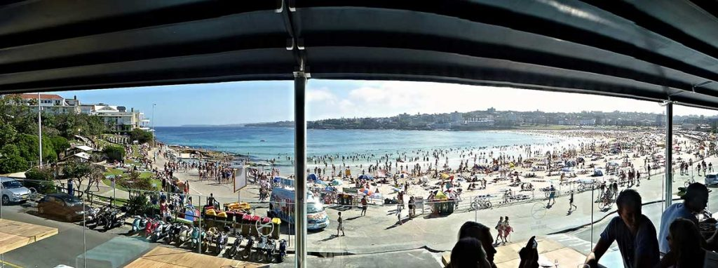 Day Drinking on Bondi Beach in Sydney, Australia
