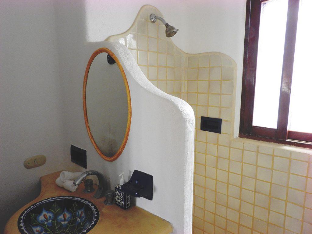 Bathroom at Hotel Cielo Rojo, San Pancho, Mexico