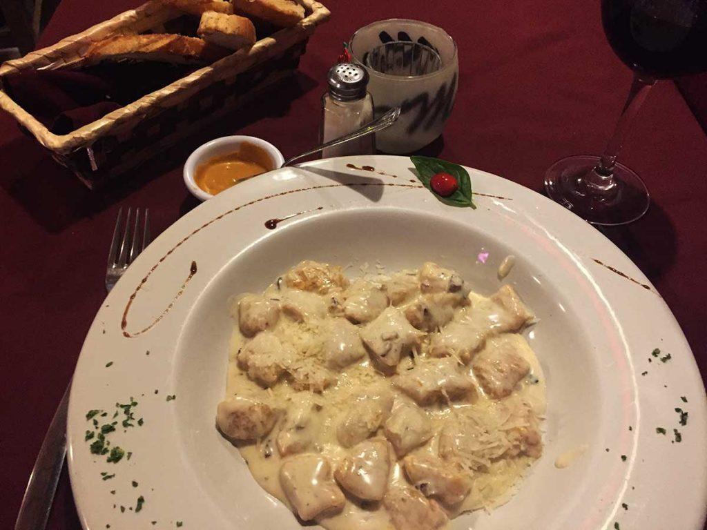 Gnocchi at Marcolino Restaurant, Sayulita, Mexico
