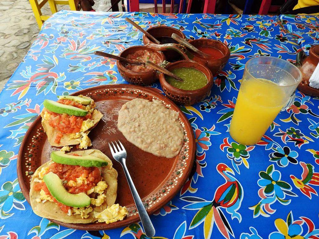 Huevos Rancheros at Mary's Mexican Cuisine Restaurant in Sayulita, Mexico