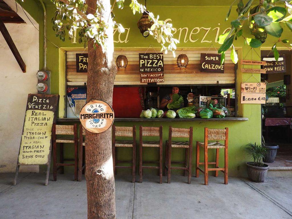 Pizza Venezia Restaurant in Sayulita, Mexico