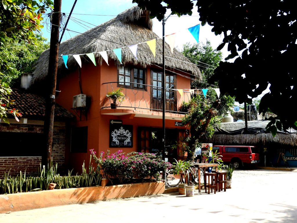 Cafe Paraiso in San Pancho, Mexico