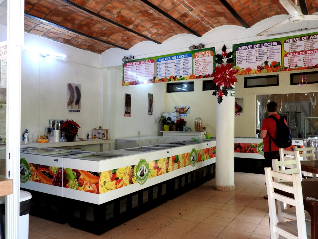 La Michoacana Ice Cream Shop in San Pancho, Mexico