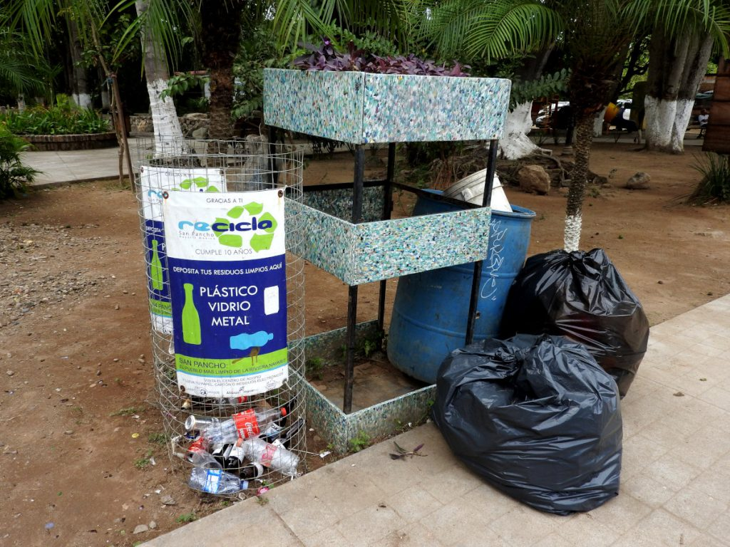 Recycling in San Pancho, Nayarit, Mexico
