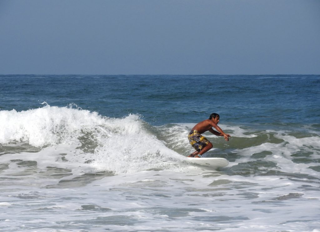 Surfing in San Pancho, Mexico