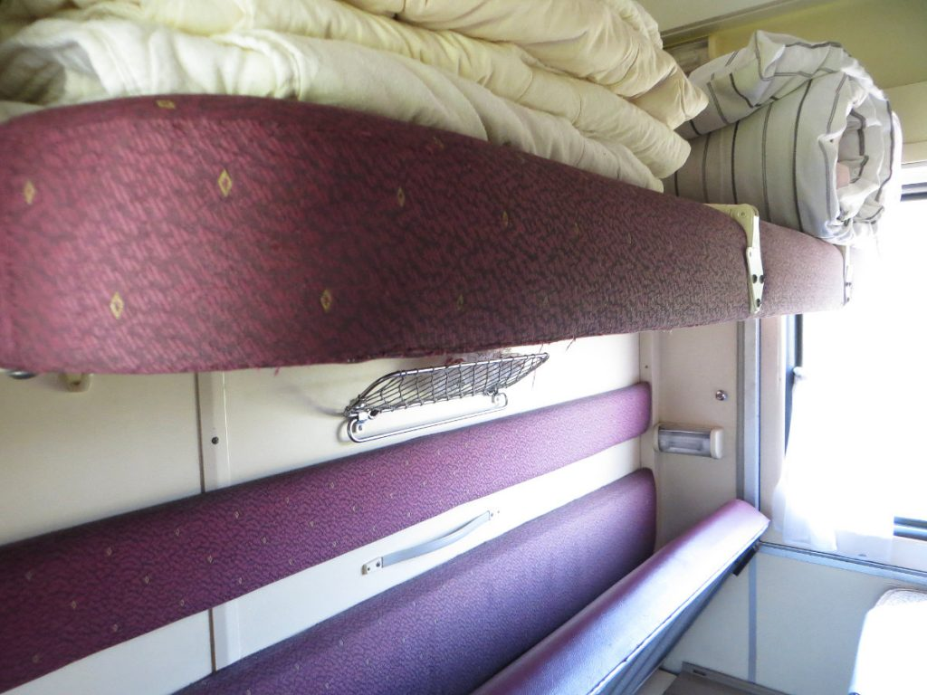 Bedding on Board the Trans-Siberian Railway