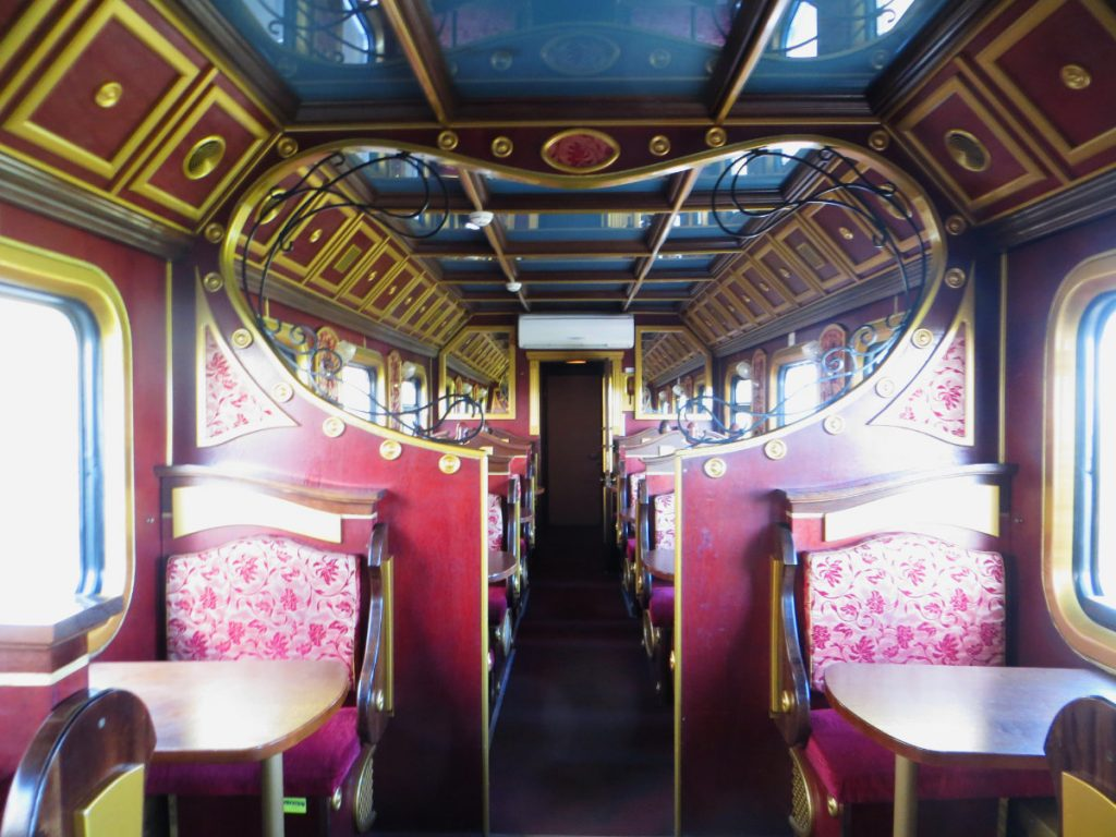 A Traditional Restaurant Wagon on the Trans-Siberian Railway