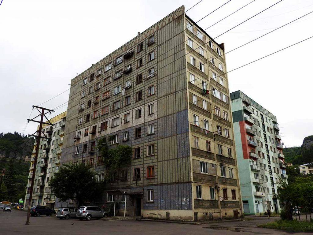 Chiatura Georgia Apartment Block