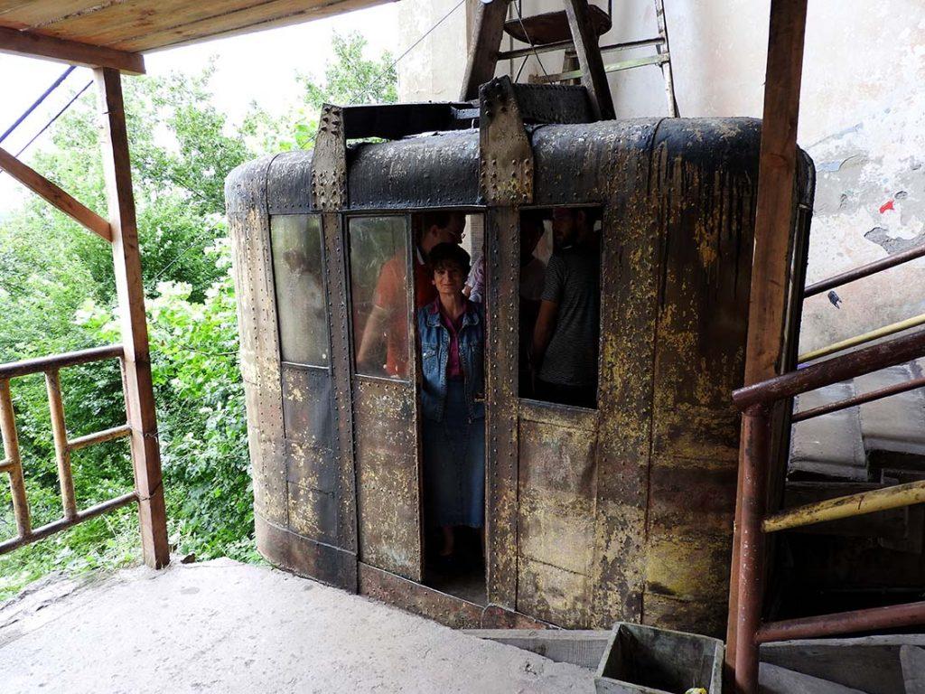 Chiatura Georgia Cable Car Operator