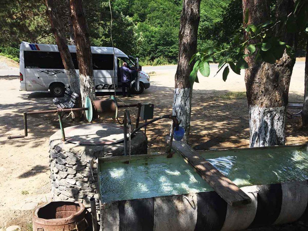 Marshrutka to Chiatura Georgia Rest Stop