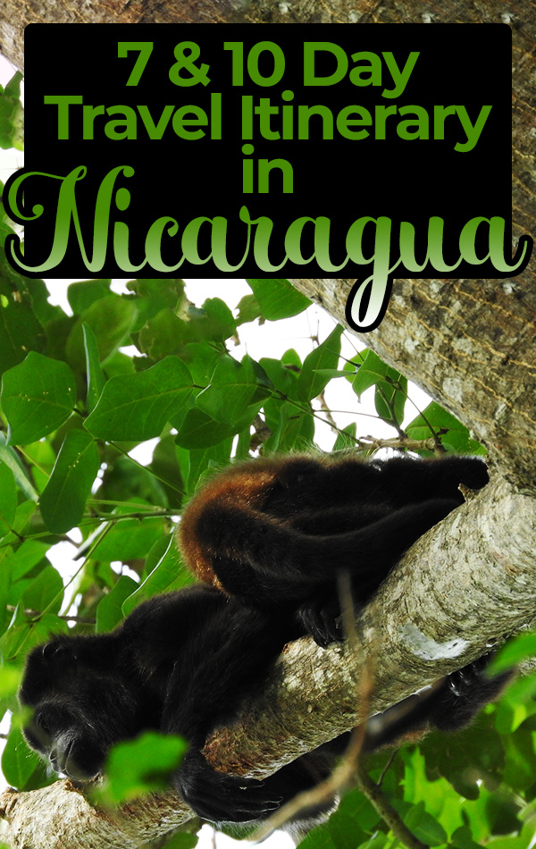 Traveling in Nicaragua for seven or ten days? This Nicaragua travel itinerary includes Granada, San Juan del Sur, Ometepe Island and Laguna de Apoyo. Ecotourism, adventure travel, backpacking and solo female travel tips included!