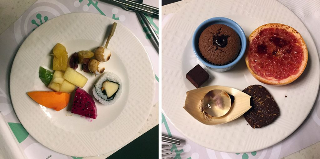Two Dessert Courses at Taipei Vegetarian Buffet Fruitful Food