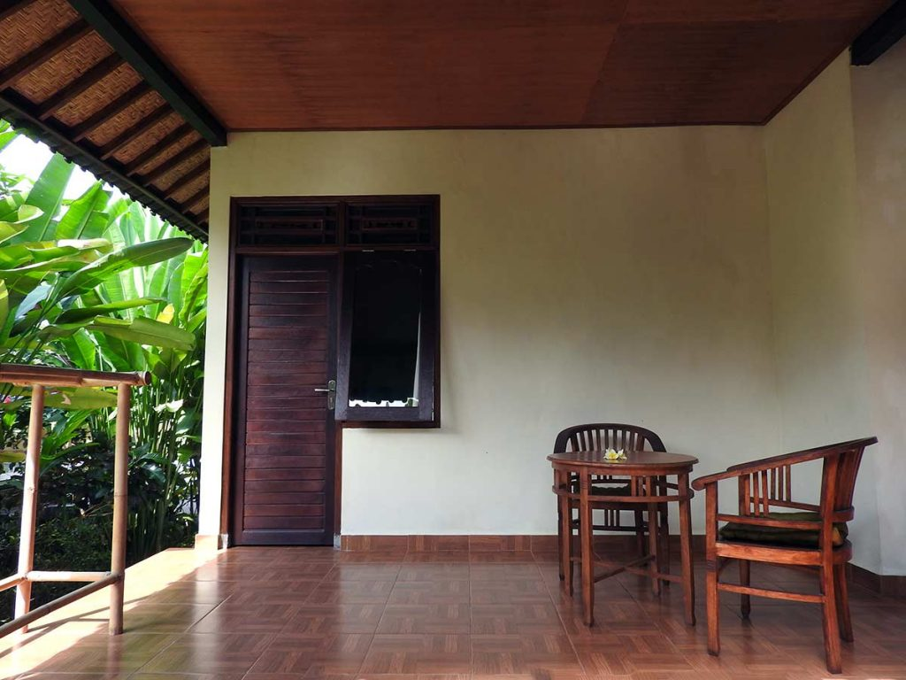 Terrace at Dipa Home Stay, an Ubud Guesthouse in Bali, Indonesia