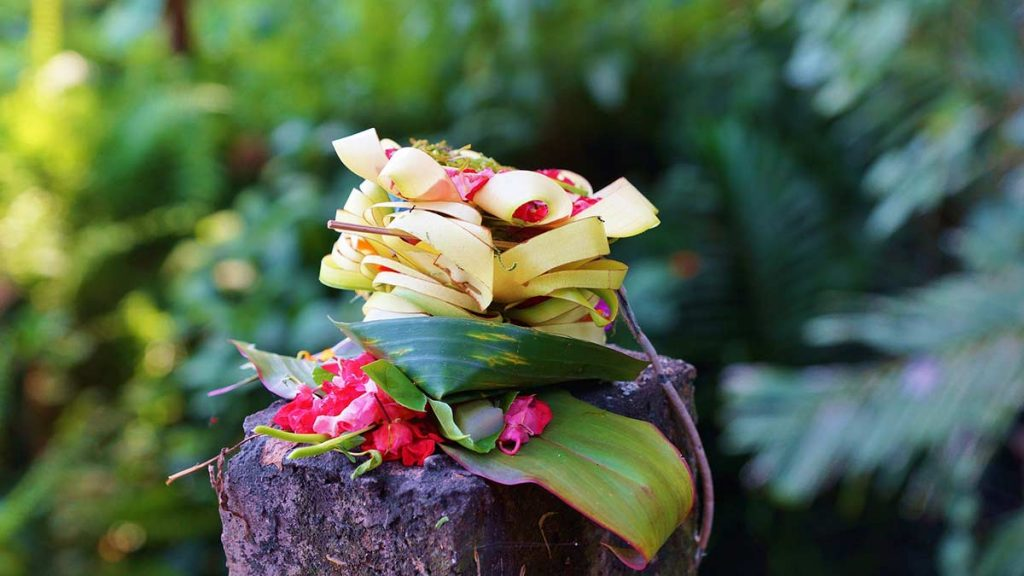 A Typical Balinese Offering to the Gods