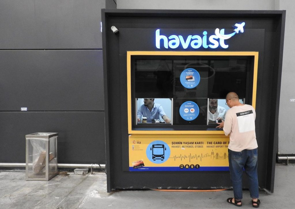 Ticket Vendor for Havaist Buses from the New Istanbul Airport to the City