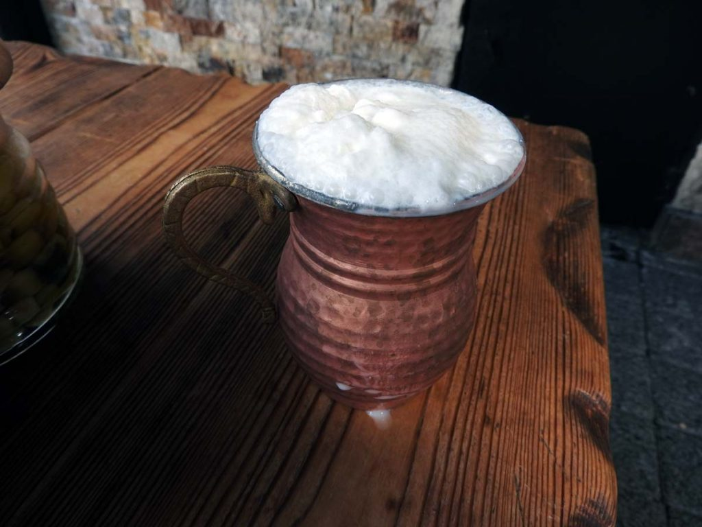 Ayran Yogurt Drink in Istanbul, Turkey on an Istanbul Food Tour