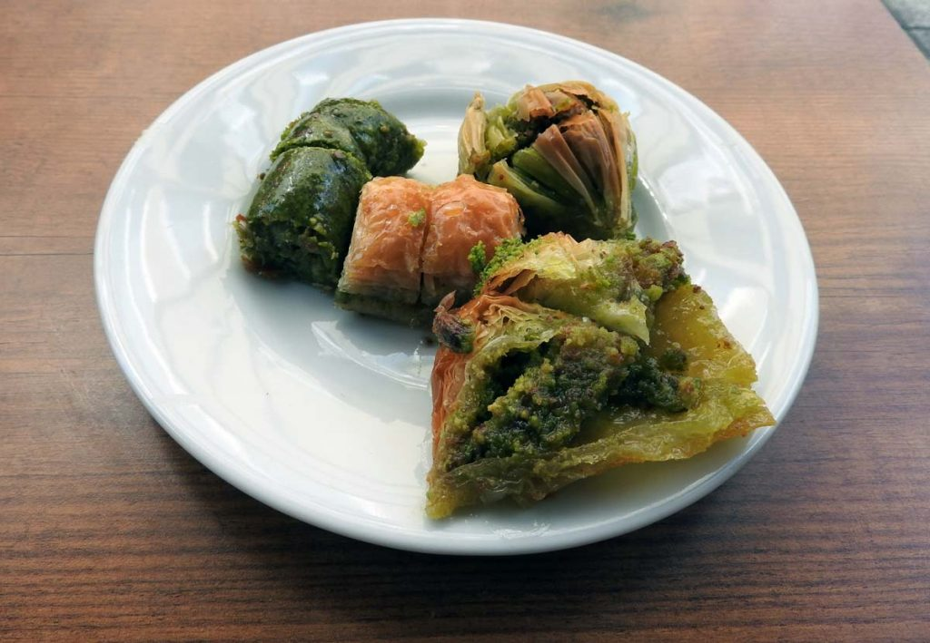 Four Types of Baklava on a Turkish Food Tour