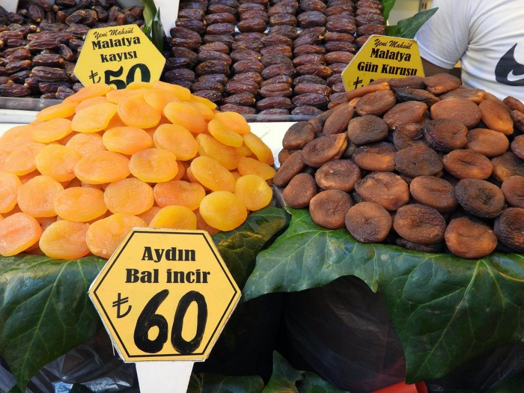 Dried Apricots at the Market on an Istanbul Food Tour