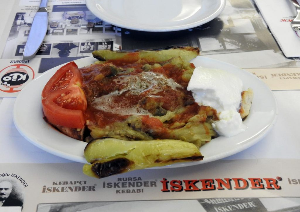 Grilled Eggplant on an Istanbul Food Tour (Vegetarian Option)