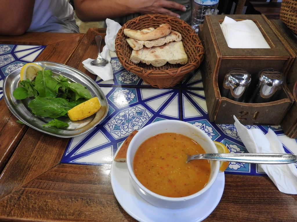 Turkish Lentil Soup on a Vegetarian Istanbul Food Tour