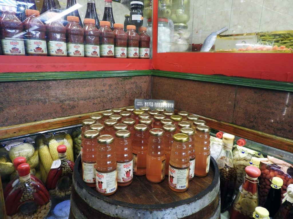 Pickle Juice Tasting on an Istanbul Food Tour (Vegetarian Option)