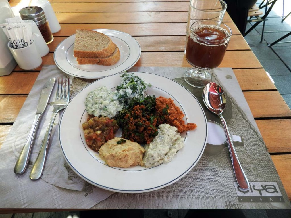 Mezze Plate at Ciya Sofrasi Restaurant in Kadikoy, Istanbul
