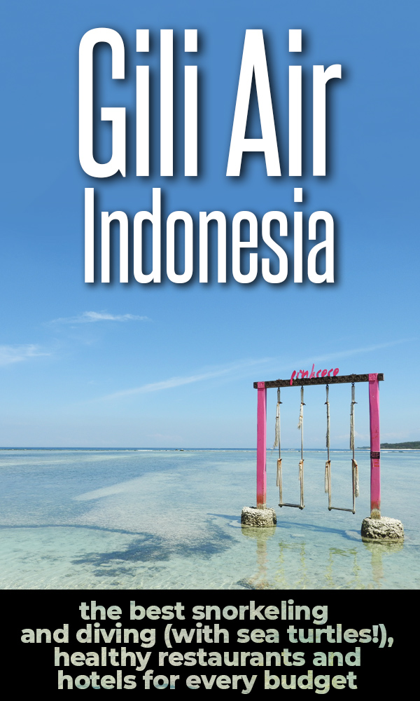 Gili Air is the coolest of the three Gili Islands near Bali and Lombok. It's the perfect place to chill out and relax on a beautiful beach, or to scuba dive and snorkel with sea turtles. This complete travel guide covers everything you need to know about Gili Air!
