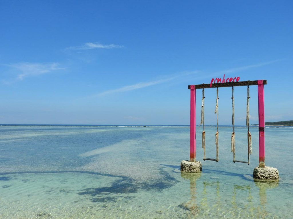 Beautiful beaches on Gili Air, near Bali and Lombok in Indonesia.