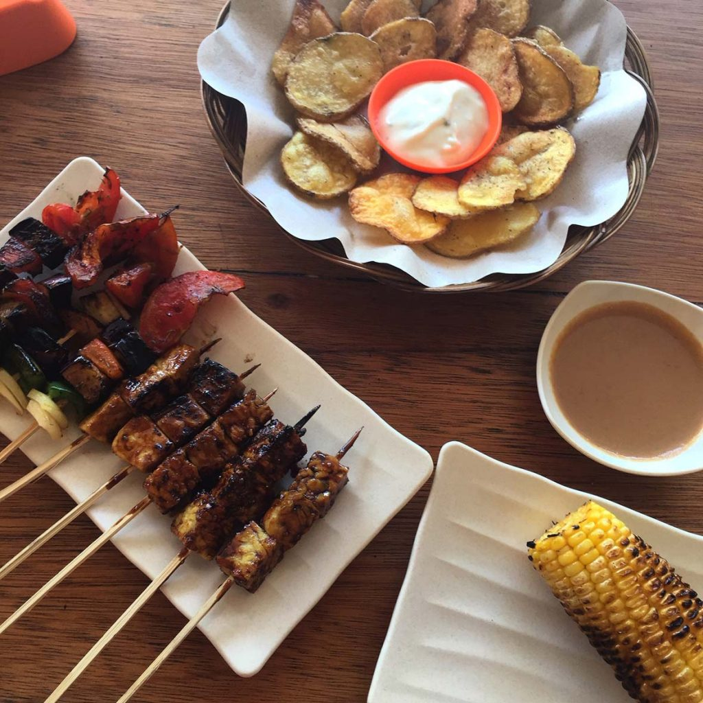 Le Sate Vegetarian Plate on Gili Air